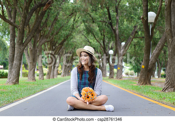 Asian woman - csp28761346