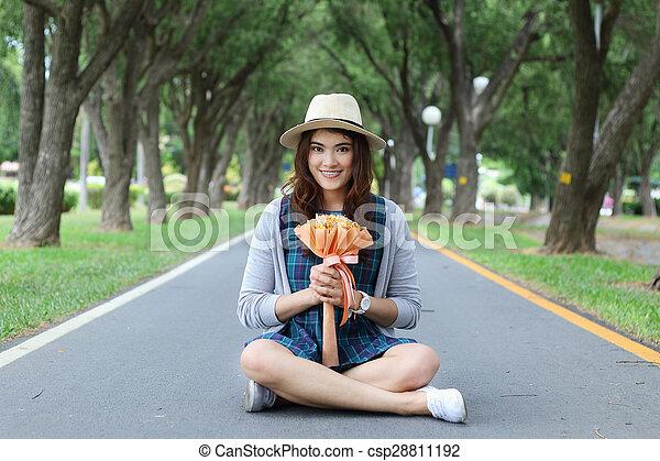 Asian woman - csp28811192