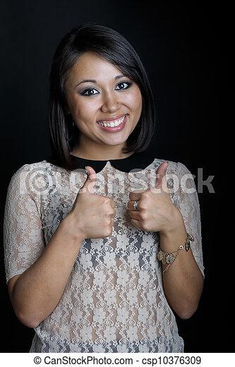 Asian woman - csp10376309