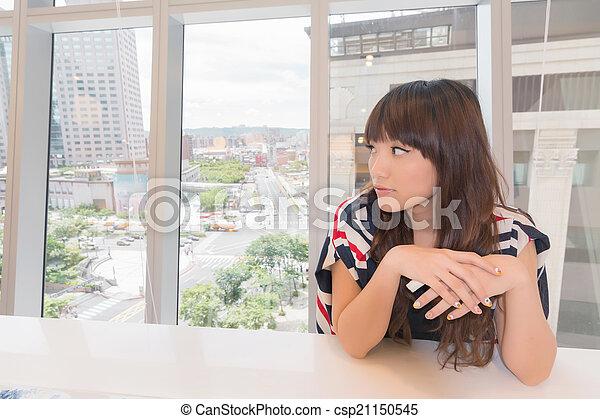 Asian woman thinking - csp21150545