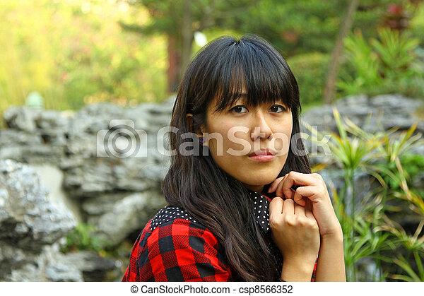 Asian woman thinking - csp8566352