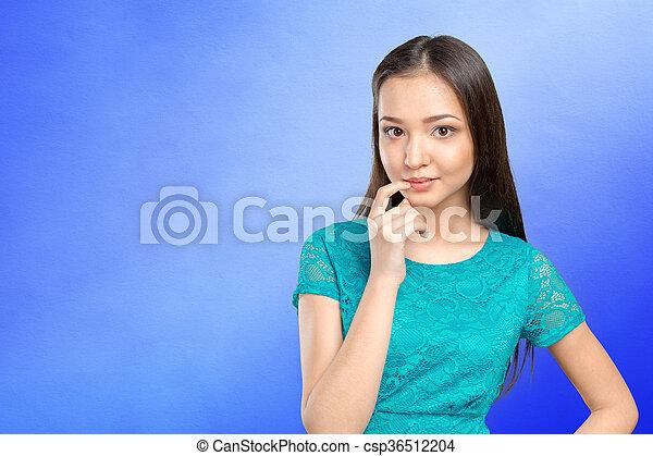 Asian woman thinking  - csp36512204