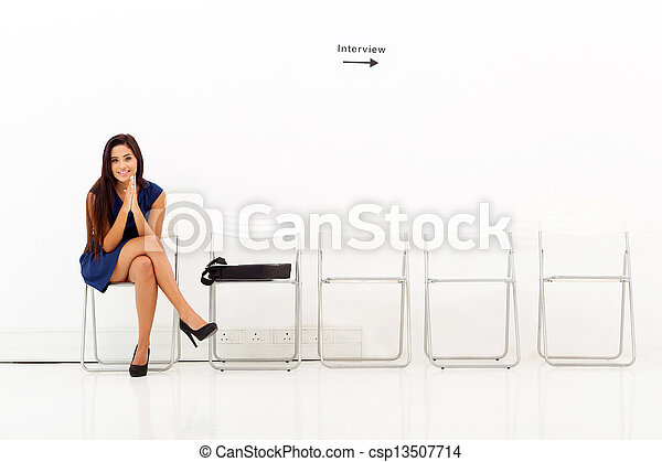 asian woman waiting for employment interview - csp13507714