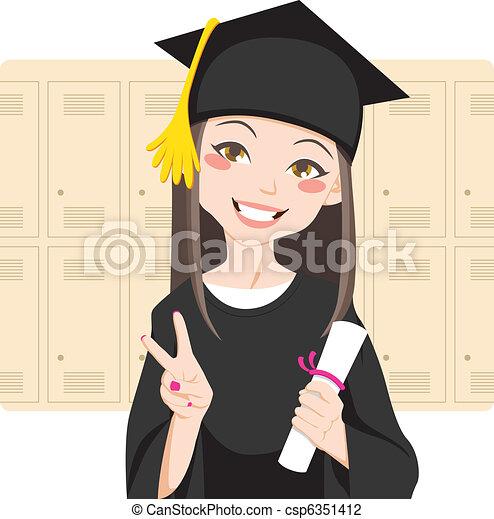 asiat, graduere - csp6351412