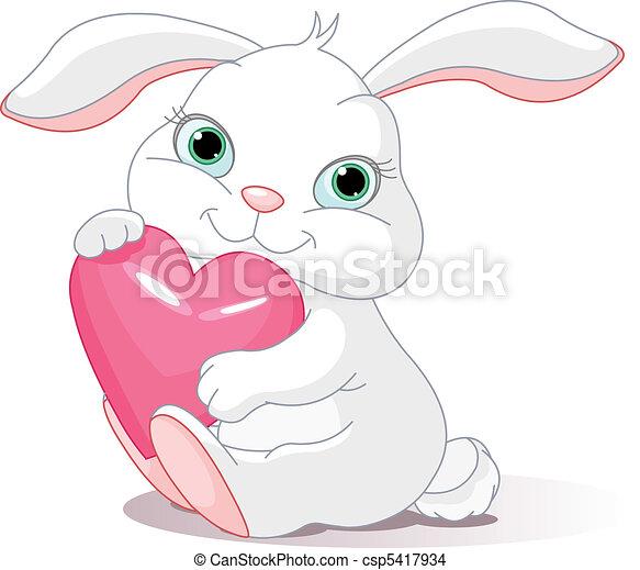 Conejo tiene corazón de amor - csp5417934