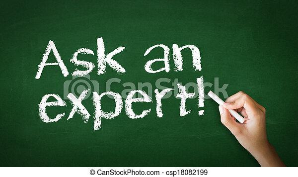 Ask an Expert Chalk Illustration - csp18082199