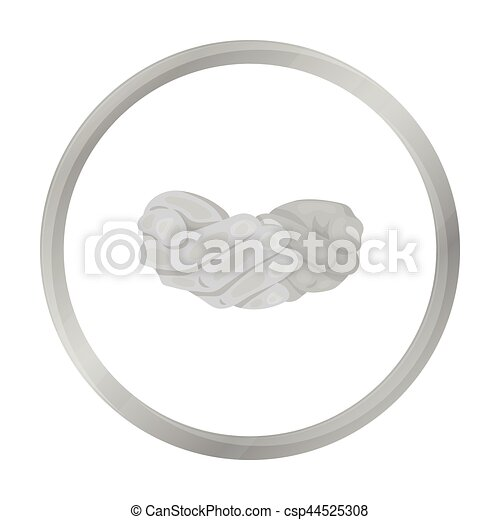 Ask for alms icon in monochrome style isolated on white background. Hand gestures symbol stock vector illustration. - csp44525308