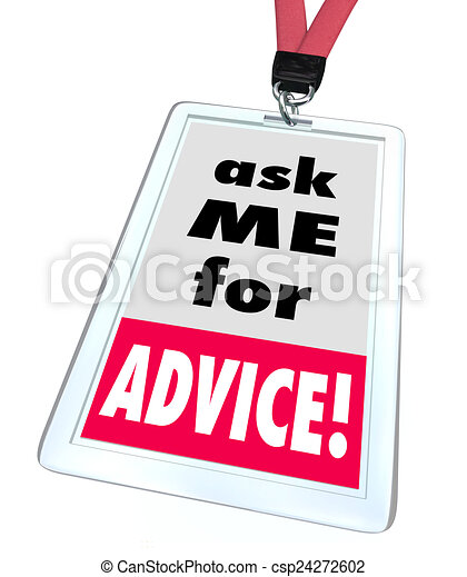 Ask Me For Advice Badge Help Assistance Customer Support Service - csp24272602