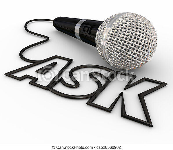 Ask microphone questions answers cord inquiry. Ask word ...