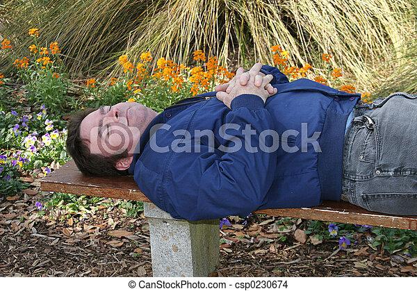 Asleep In The Garden - csp0230674