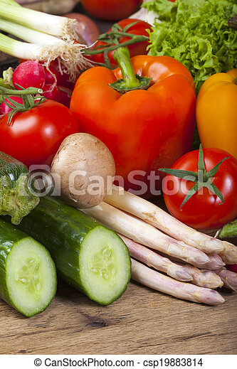 Asparagus, Peppers and other fresh vegetables - csp19883814