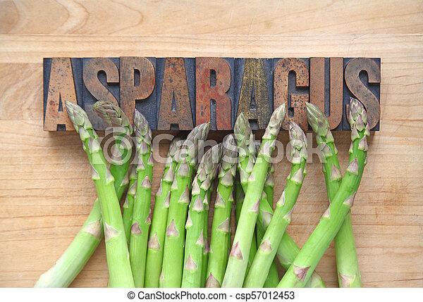 Asparagus with word - csp57012453