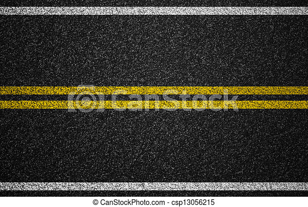 Asphalt highway with road markings background - csp13056215