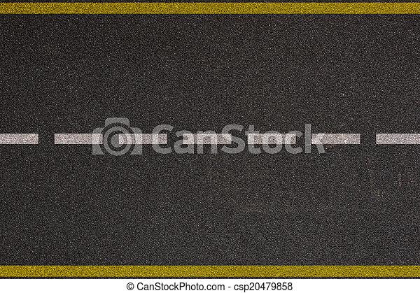 Asphalt highway with road markings background - csp20479858