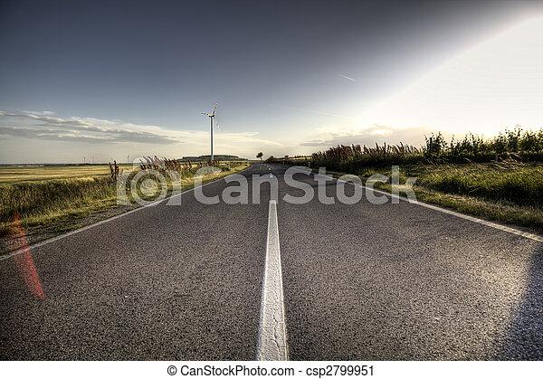 Asphalt road - csp2799951