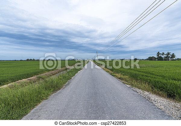 Asphalt road - csp27422853