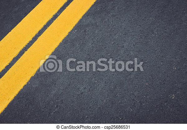 Asphalt road - csp25686531