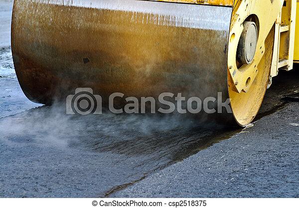 Asphalt roller - csp2518375