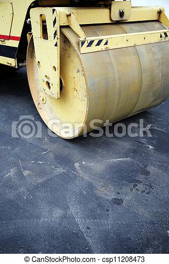 asphalt skating rink - csp11208473