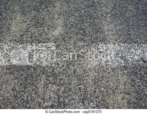 Asphalt texture with white lines - csp5181070