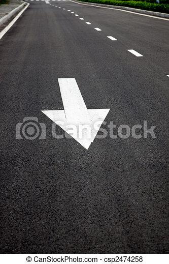 asphalted, frecce, superficie strada, segni - csp2474258