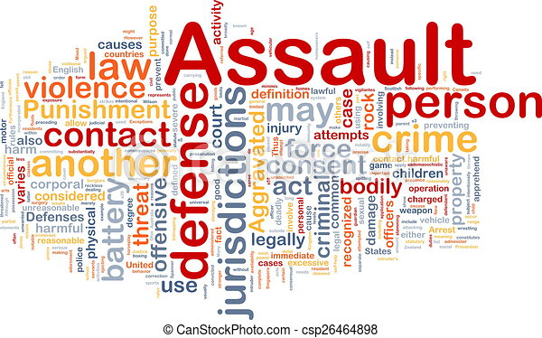 Assault background concept wordcloud - csp26464898