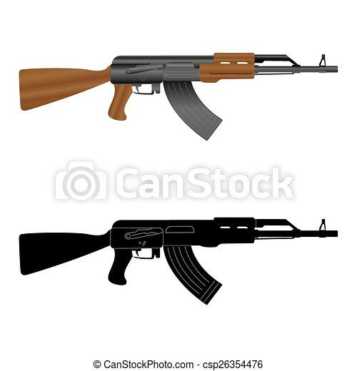 assault rifle kalashnikov ak 47 vectors illustration search rh canstockphoto com ak47 vector png ak 47 vector image