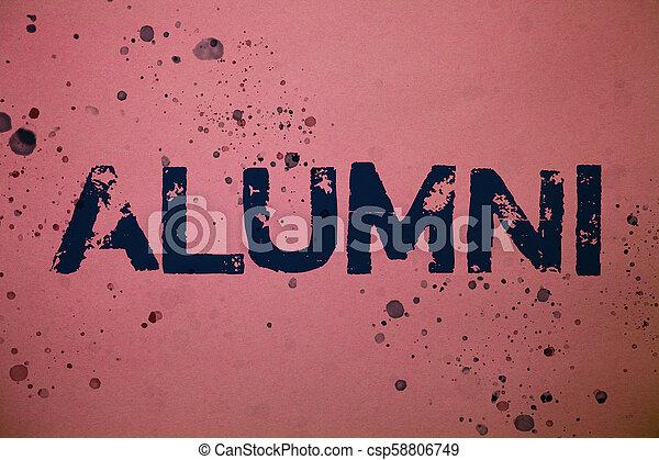 assemblea, concetto, vecchio, testo, università, alumni., disordinato, rosa, alum, idee, laureato, vernice, postgraduate, splatters, accademia, comunicare, significato, fondo, celebrazione, messaggi, feelings., scrittura - csp58806749