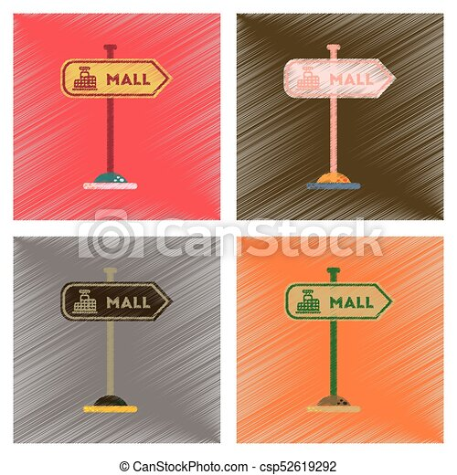 assembly flat shading style icons mall sign - csp52619292