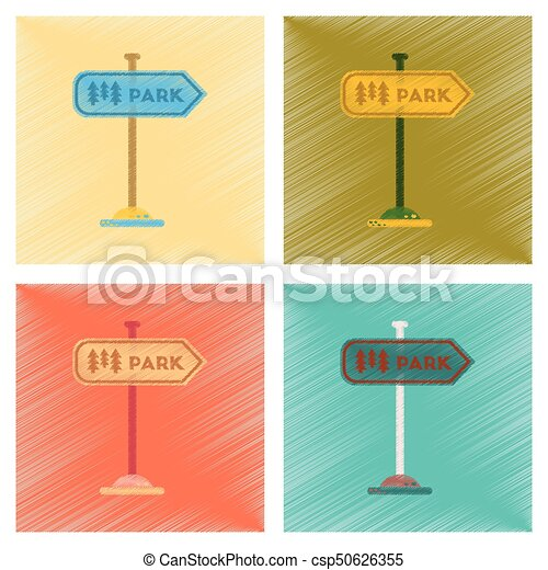 assembly flat shading style icons park sign - csp50626355