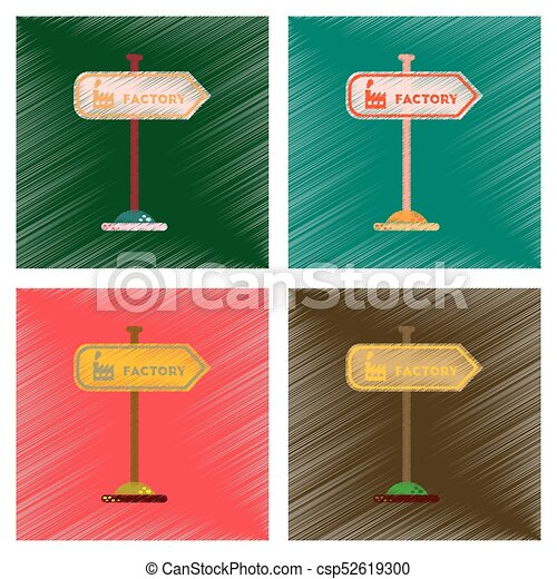 assembly flat shading style icons sign factory - csp52619300
