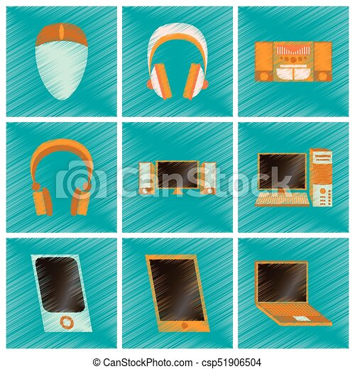 assembly flat shading style icons Gadgets - csp51906504
