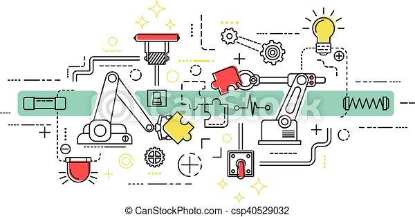 Assembly Line Art - csp40529032