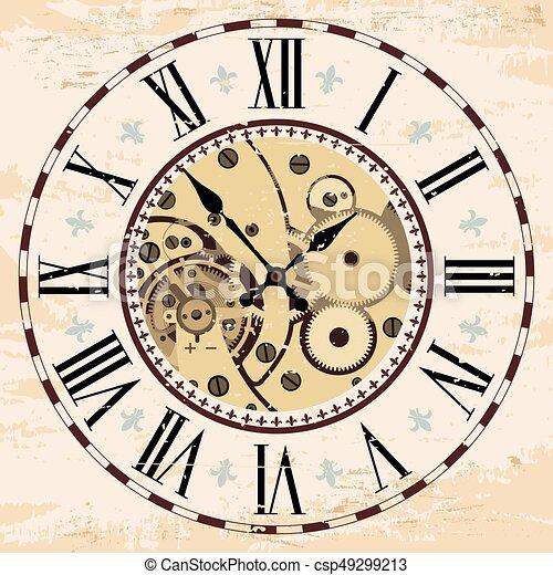 Mecanismo de reloj. - csp49299213