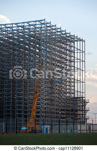 Assembly of storage rack warehouse - csp11128901