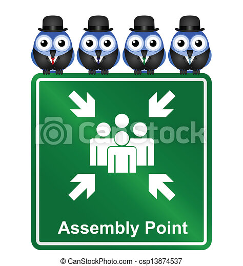 Assembly Point sign  - csp13874537
