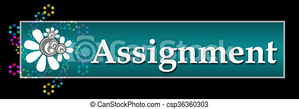 Assignment Black Colorful Neon  - csp36360303