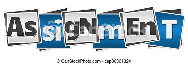 Assignment Blue Grey Blocks  - csp36361324