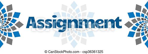 Assignment Blue Grey Squares  - csp36361325