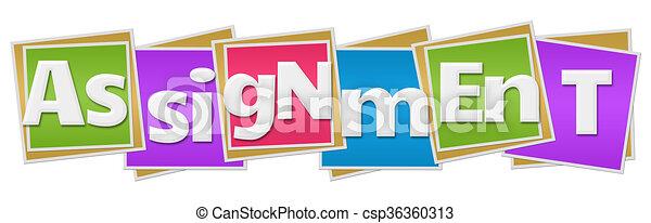 Assignment Colorful Blocks  - csp36360313