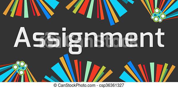 Assignment Dark Colorful Elements  - csp36361327