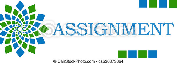 Assignment Green Blue Square - csp38373864