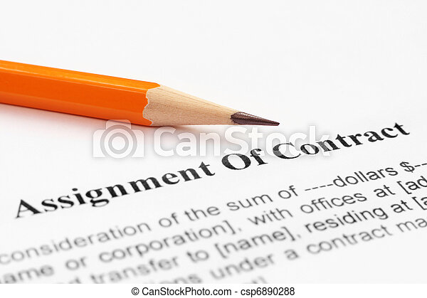 Assignment of contract - csp6890288