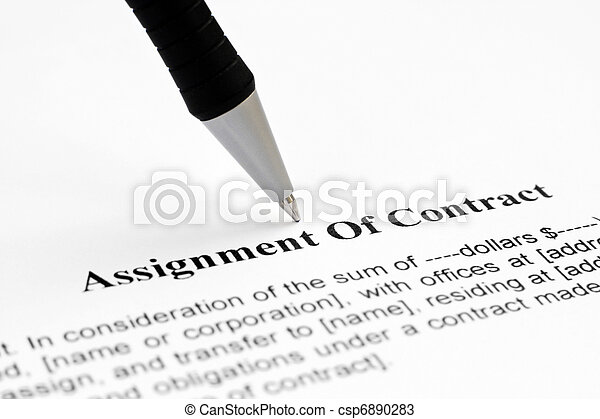 Assignment of contract - csp6890283