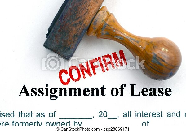 Assignment of lease - csp28669171