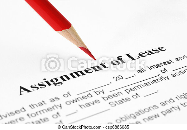 Assignment of lease - csp6886085