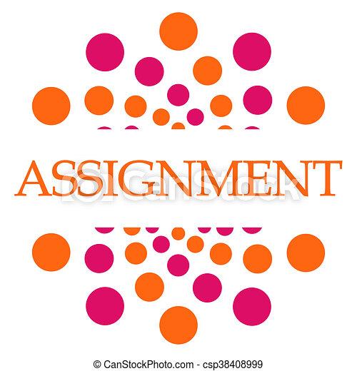 Assignment Pink Orange Dots Square - csp38408999