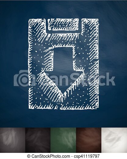 assignment returned icon. Hand drawn vector illustration - csp41119797