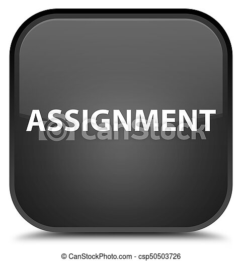 Assignment special black square button - csp50503726