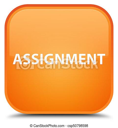 Assignment special orange square button - csp50798598